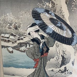 Beautiful Japanese print framed